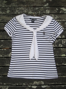 Sailor top ($5) - SaveMart, Timaru (Dunedin also has a SaveMart in Stafford Street)