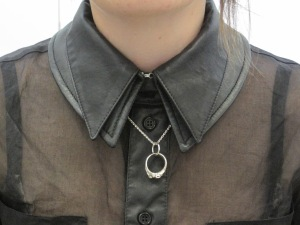 Trooper Shirt collar detail with Company of Strangers ring necklace
