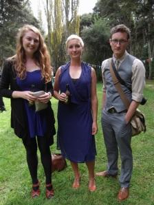 Emma, Celia and Tim. Celia wears an op shop dress by Sable & Minx.