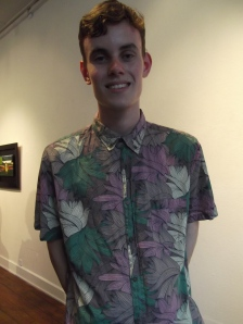 Willem wears Vanishing Elephant shirt from Slick Willy's, Dunedin.