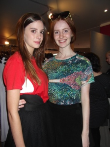 Imogen and Lily wear Stolen Girlfriends Club. Lily also wears Karen Walker sunglasses.