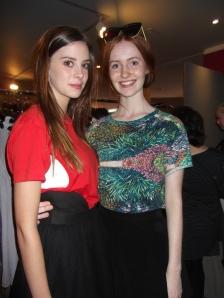 Imogen and Lily wear Stolen Girlfriends Club. Lily also wears Karen Walker sunglasses.