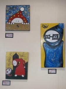 A selection of art in Circadian Rhythm Café