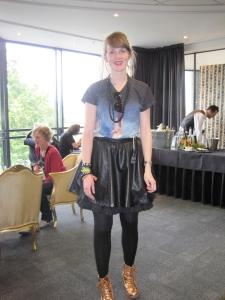 Rakel (from Germany) wears a range of overseas labels AND a Glassons skirt!