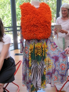 Miss Africa featuring zebras, Moroccan patterns and South Africa's Gazania flower. The wool is hand-dyed.