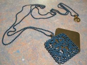 Karen Walker filigree pendant ($25) – BelleBird Boutique, 327 George Street, Dunedin
