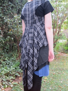 Margi is drawn to tartans (nothing to do with Scotland), checks and ginghams. 'Panel Back Tunic' from 'Danse Macabre' (AW11).