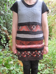 Dress made from deconstructed vintage knitwear ('Stiff Upper Lip' AW07).