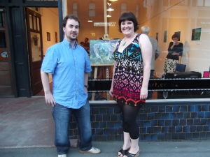 Mint Gallery owner Murray and his partner Lisa.