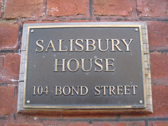 Salisbury House Sign
