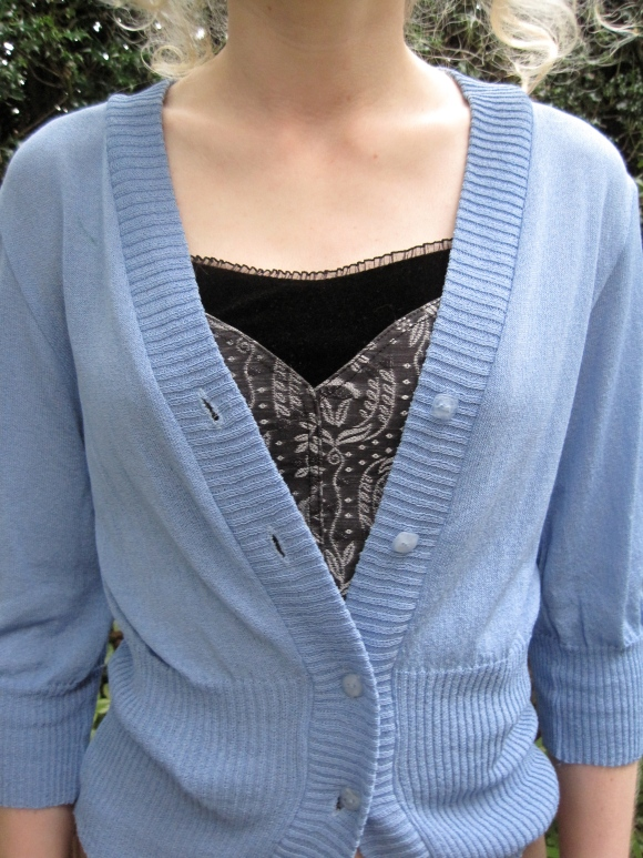 Charmaine Reveley prototype cardigan ($40) – from iD Di Lusso Designer Sale