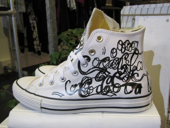 High Top Chuck Taylors with Coca Cola print