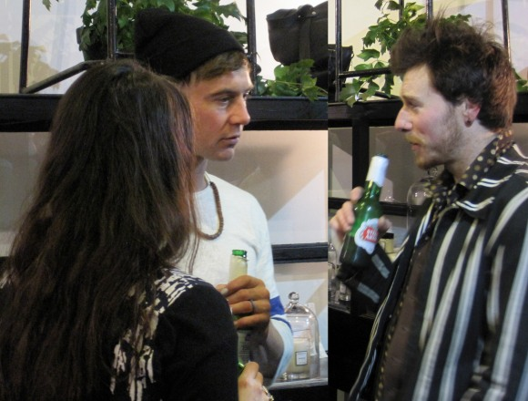 Philip James Frost (left) and fellow artist Craig Freeborn