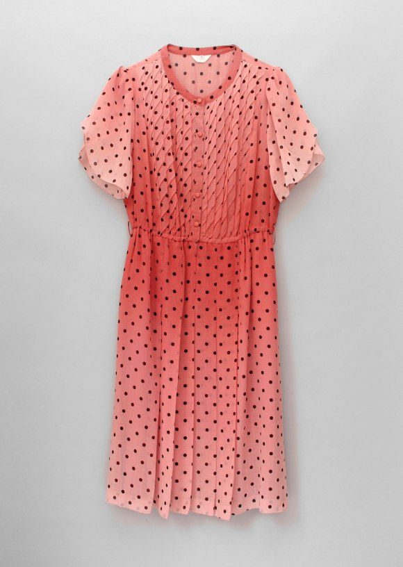 Pink & Brown Spot Dress