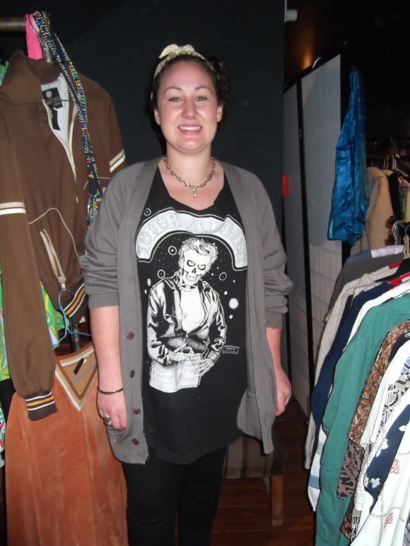 Ruby (from Ruby's Rack) wears top from Wanaka Wastebusters.