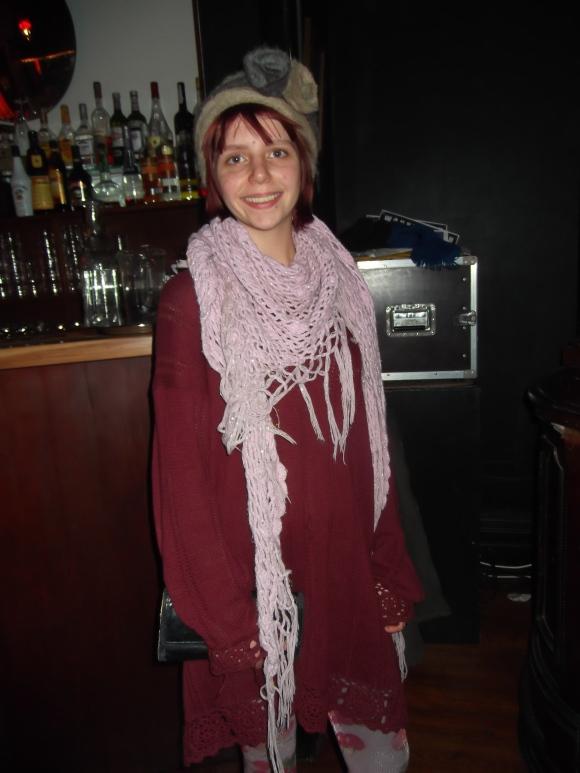 Rachel wears borrowed and op-shop.