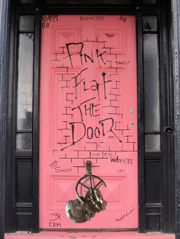 Pink Flat The Door rocks with Underground Sundae silver pendant in Clyde Street, Dunedin.