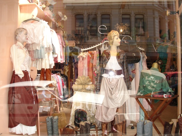 The Modern Miss shop window in 2006