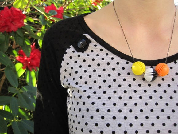 Euphoria Lane necklace ($10) – Market22 (Vogel Street). Necklace worn with dress by Kate Sylvester.