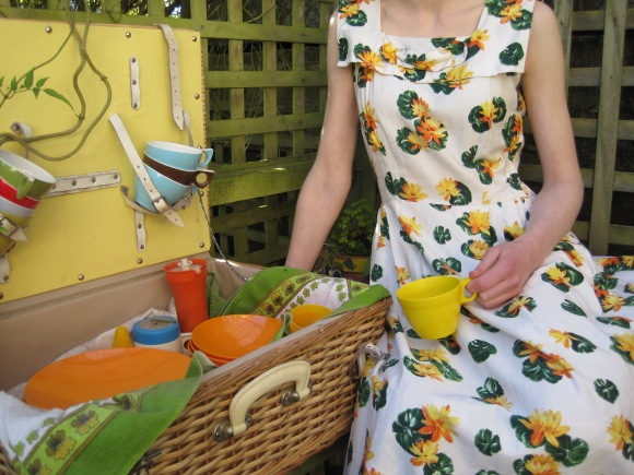 1950s waterlily sundress. Picnic set from Purple Rain.