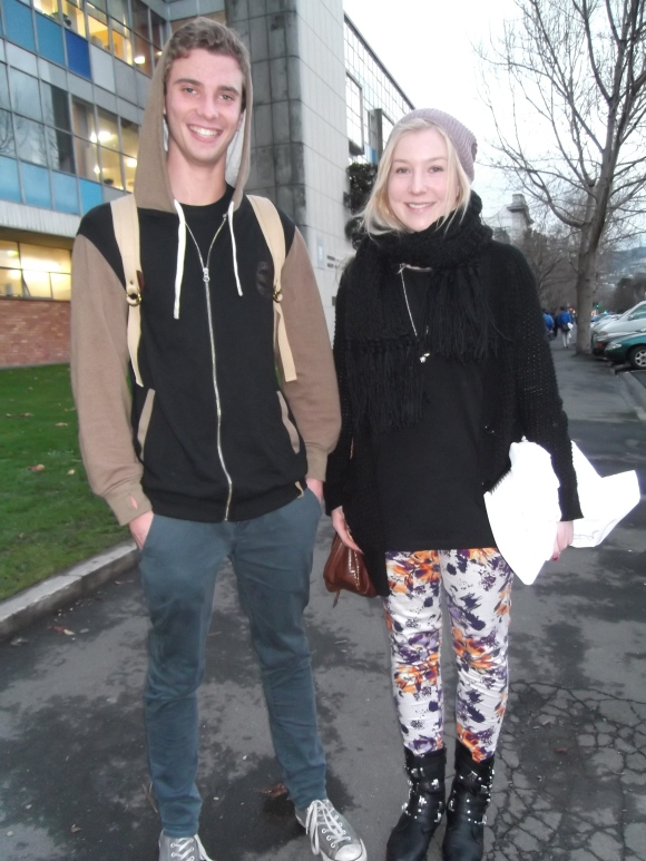 Hamish and Kim wear op-shop and online.