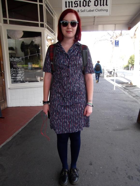 Chloe wears vintage.