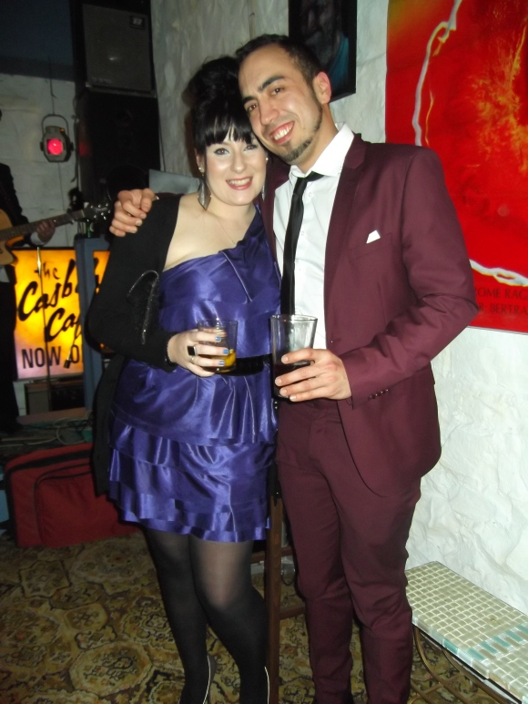 Kylie and Richard. Richard wears suit from Hallensteins.