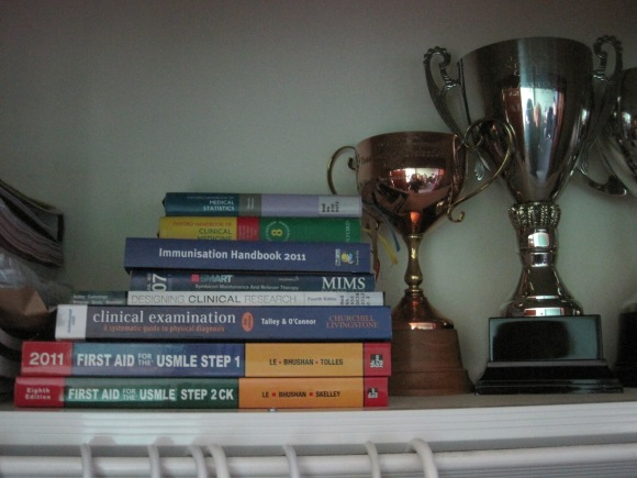 Trophies awarded to Deb for national public speaking competitions through Toastmasters