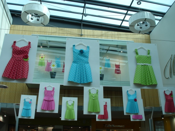 Paper dresses at Wall Street Mall