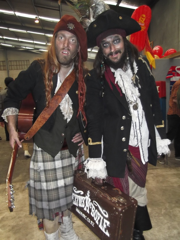 Entertainers Sir William Crust and Captain Festus McBoyle