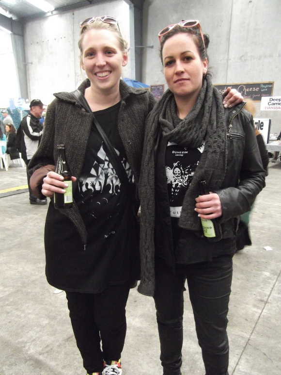 Charmaine and Brenna. Charmaine wears Fans tee by NOM*d. Brenna wears Undone x Moodie Tuesday tee.