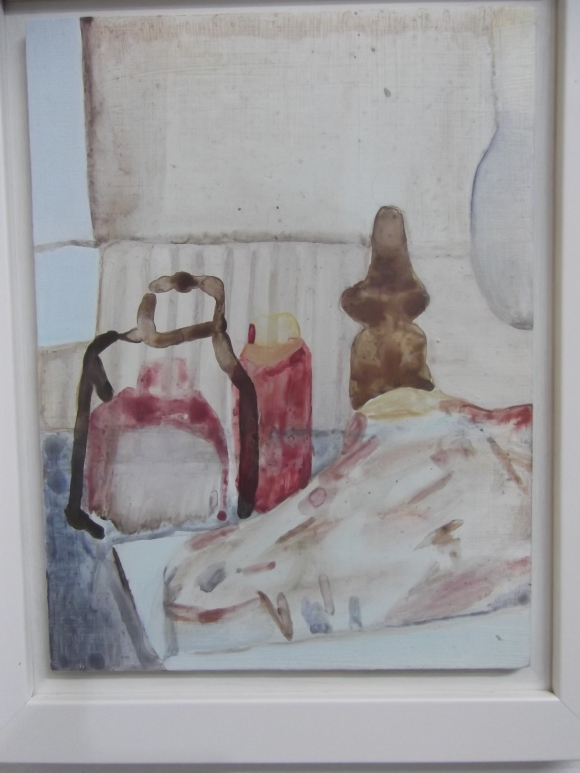 Nicola's 'Still Life With Bottles' (acrylic on board)