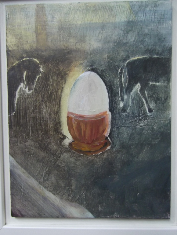Nicola's 'Egg Cup' (acrylic on board)