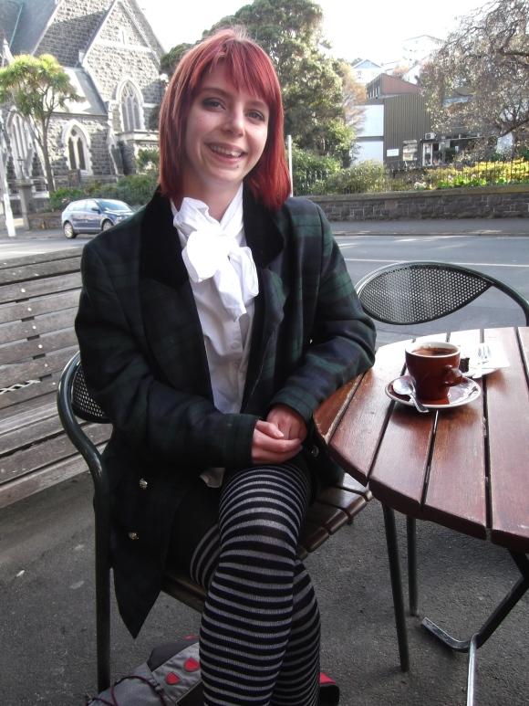 Rachael wears blouse by Trelise Cooper and op-shop blazer.
