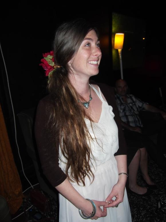 Lindsay wears op-shop
