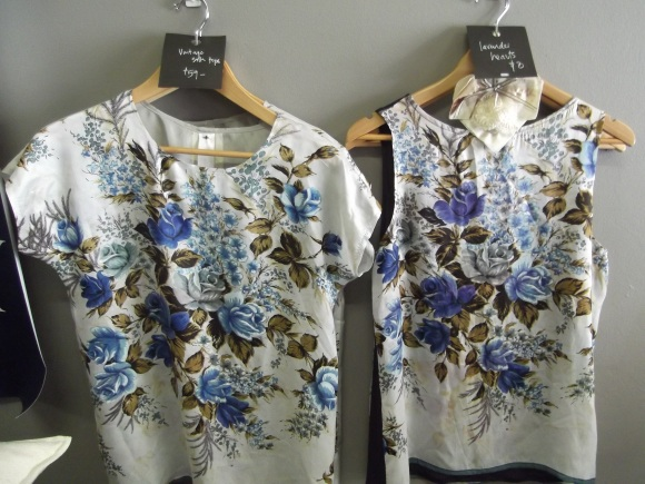 Vintage silk tops designed by Donna Gibbons
