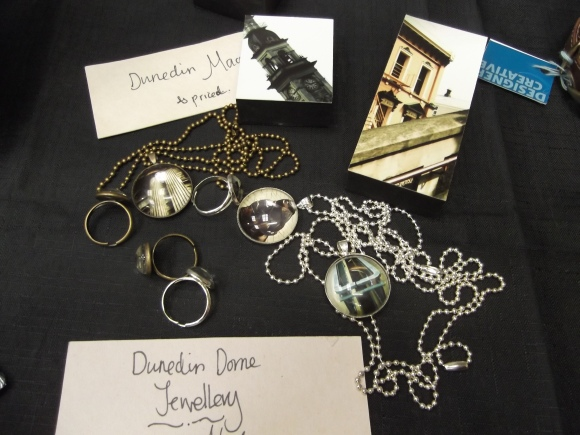 Dunedin-themed jewellery by Katy Miller