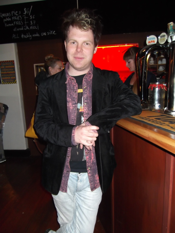 Danny from Permanence. He was complimentary about Dunedin's great bars and said that they love coming here!