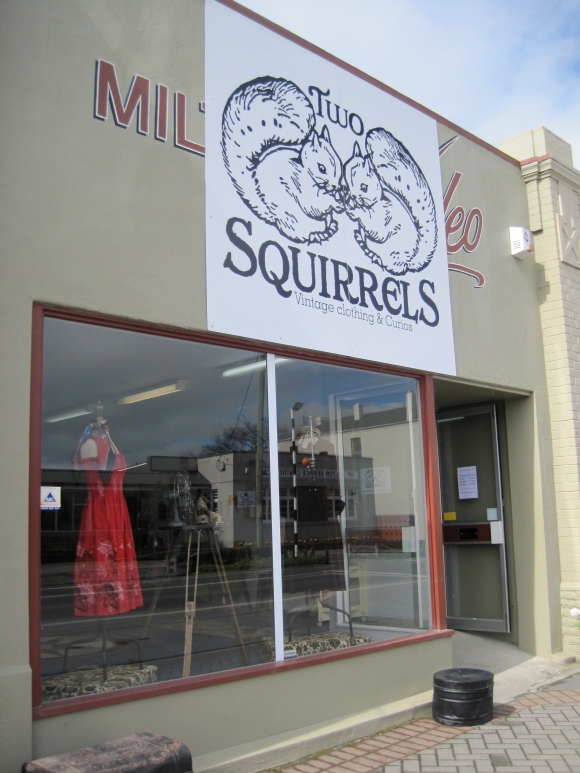 Two Squirrels Vintage Clothing & Curios shop front