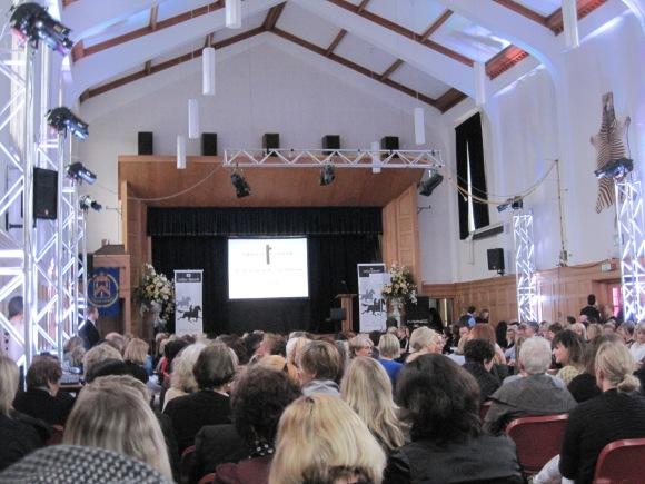 A packed John McGlashan College Chapel