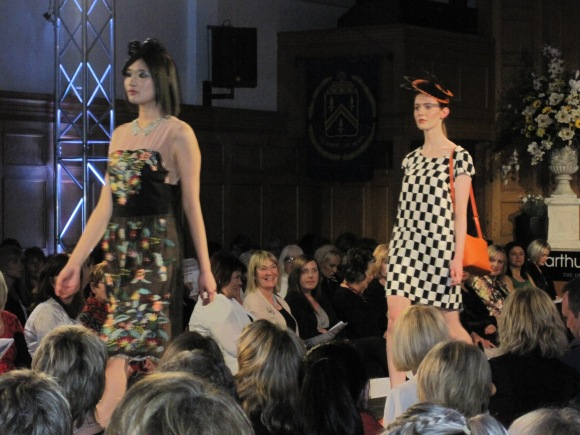 From left: 'Enchanted Garden' dress and 'Check Her Out' dress, both by Trelise Cooper
