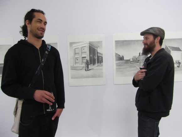 James and Tom with Untitled (3) and Untitled (4)