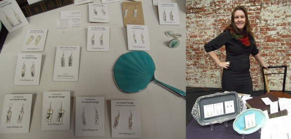 Kiri Booth of 'Kiri Booth Design' with her porcelain jewellery