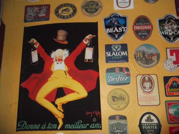 Inch Bar beer memorabilia