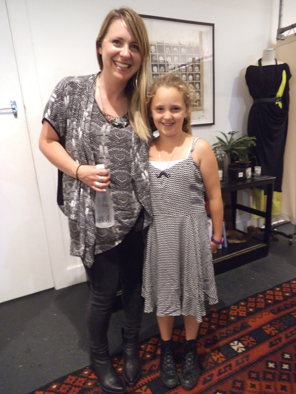 Sara Aspinall of Company of Strangers and her adorable daughter Frankie