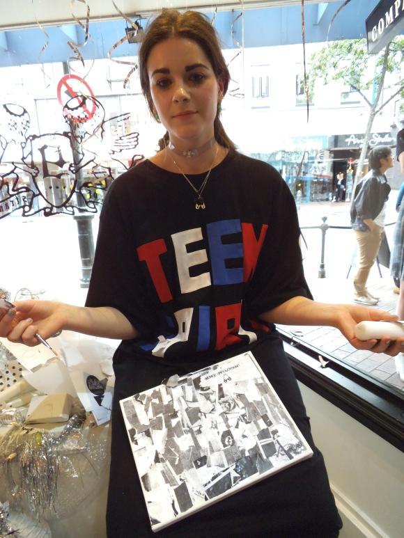 Rebecca wears Underground Sundae jewellery