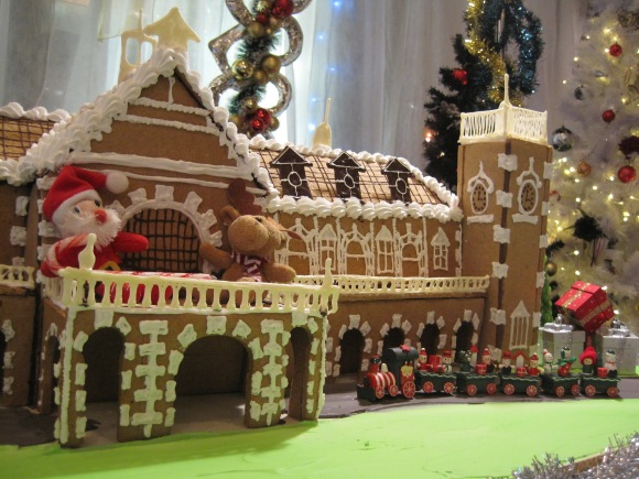Dunedin Railway Station Gingerbread House made by Scenic Hotel's baker Steve Mee