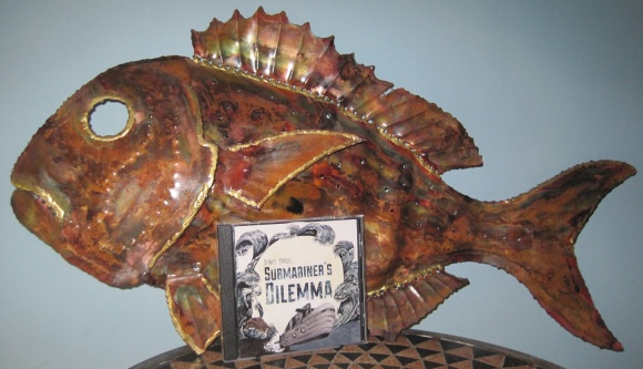 'Submariner's Dilemma' featured with copper sculpture by Vic Jennings