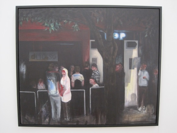 Painting of Di Lusso bar by Craig Freeborn