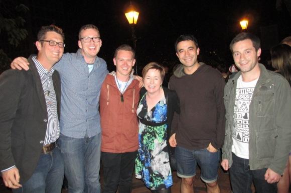 Greg, Gareth, Sam, Jan, Nicholas and Leigh